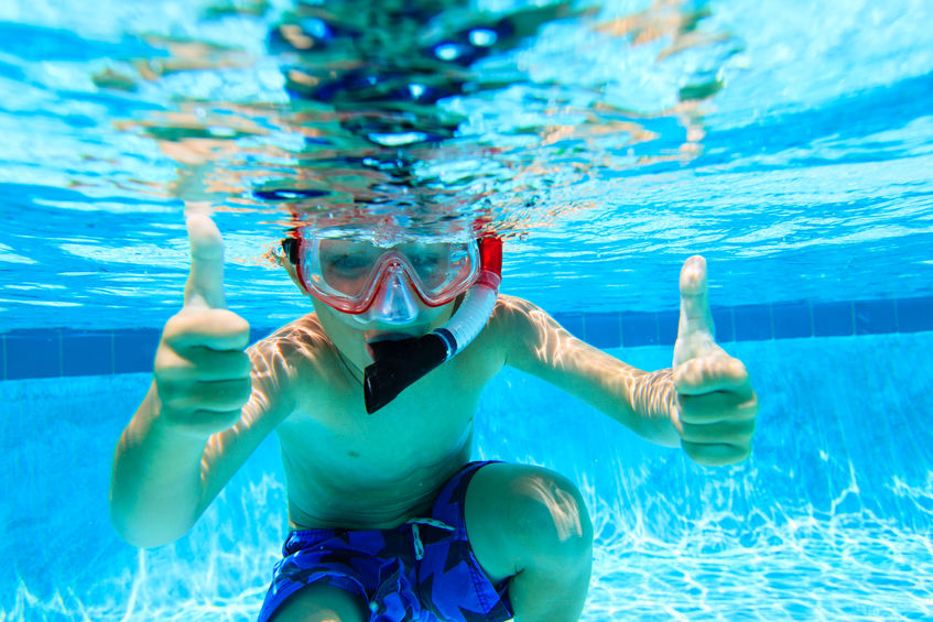 snorkel gear for kids at the beach