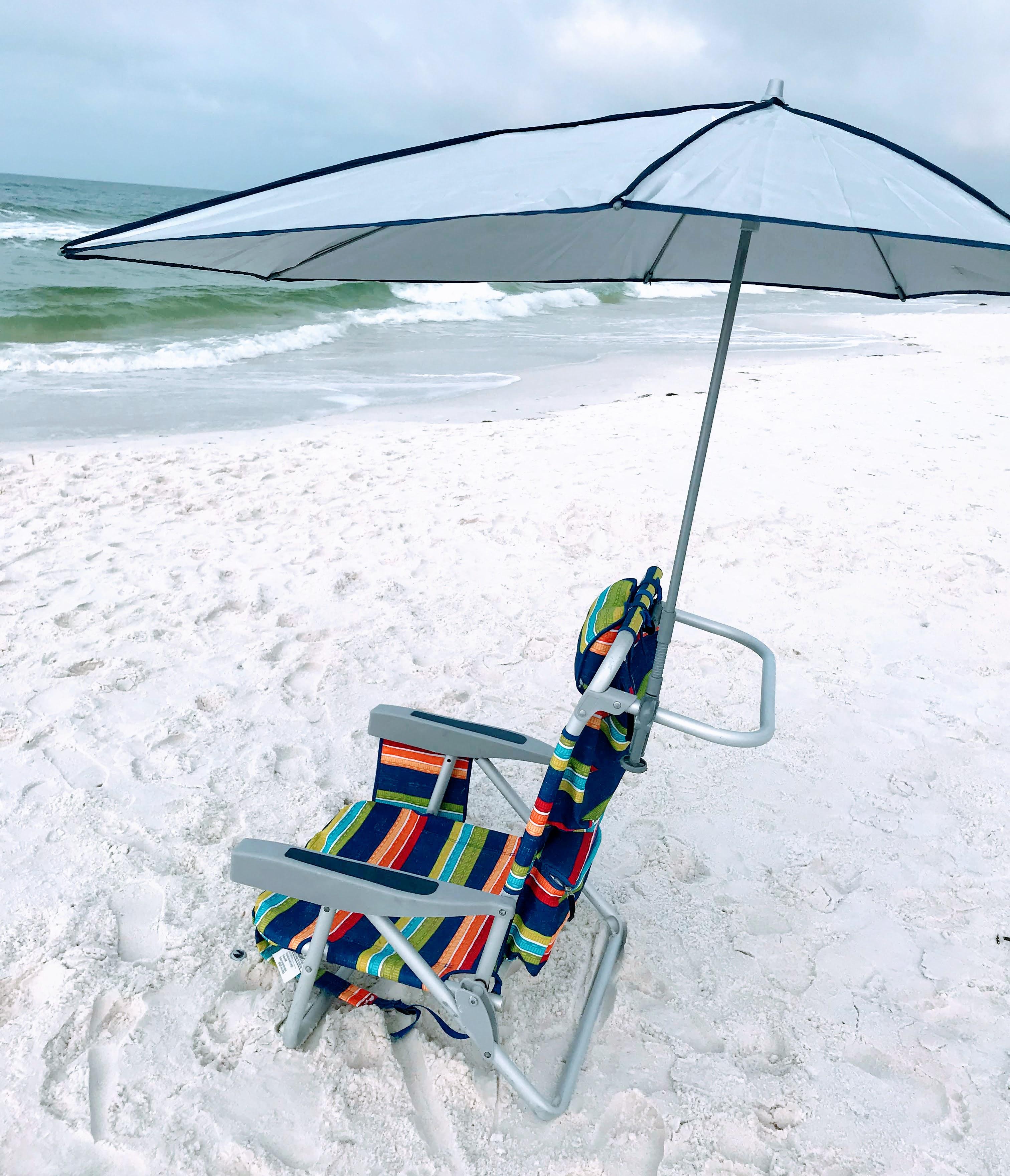 beach chair with canopy shade