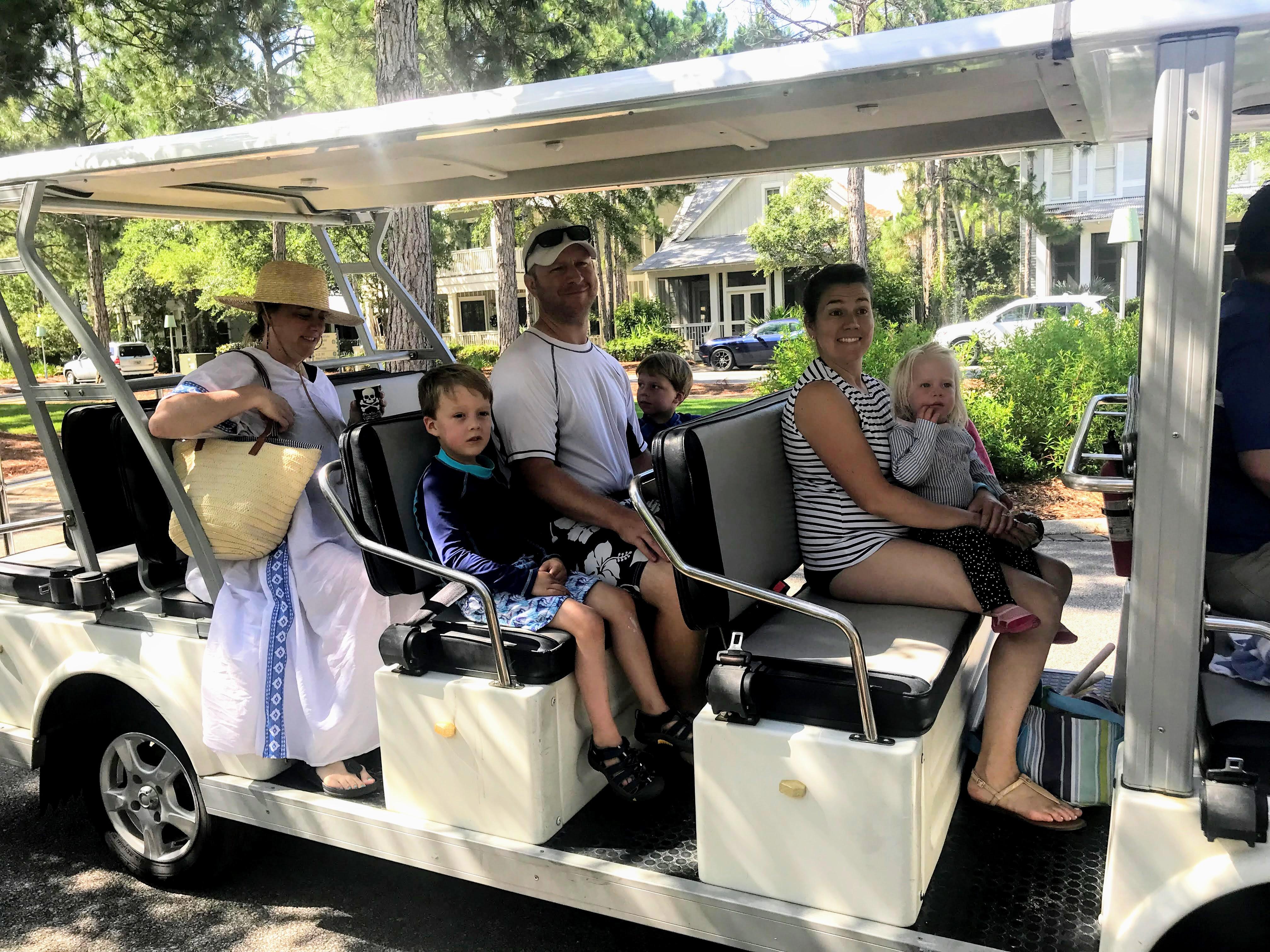 watercolor florida free trolley