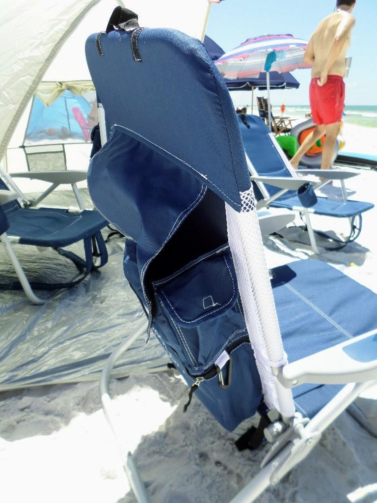 Rio Beach Chair features several pockets