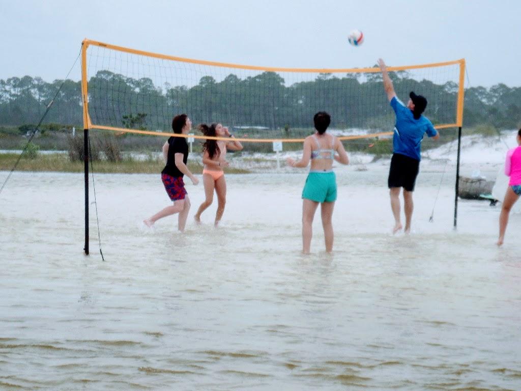 beach volleyball set
