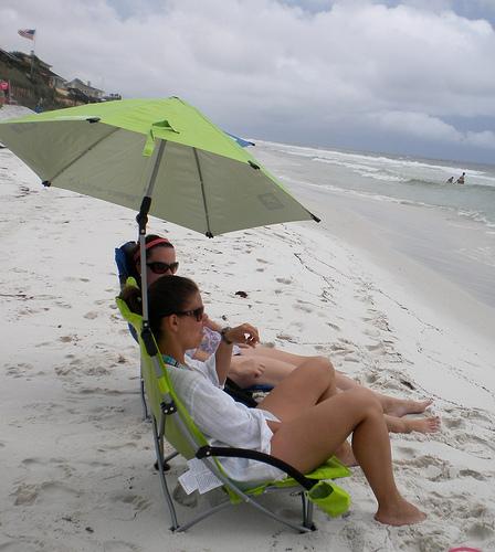 beach chair umbrella