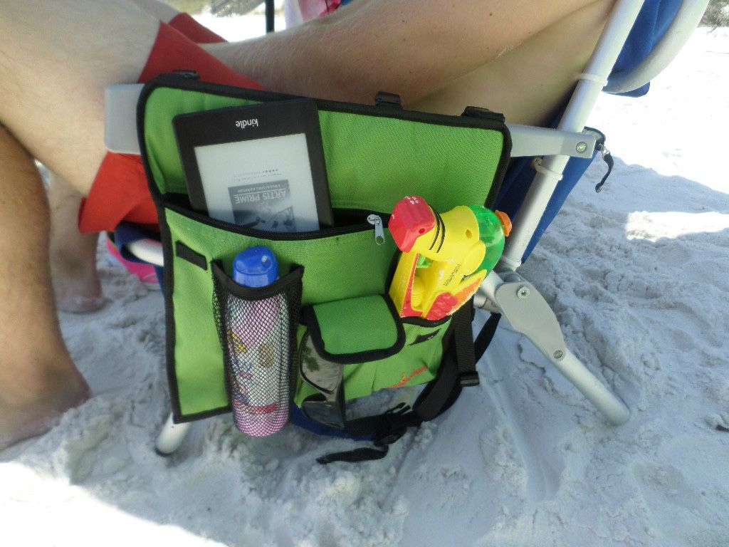 Folding Beach Chair With A Cooler Bag Backpack Straps