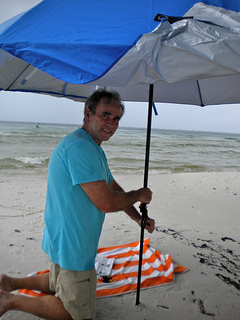 sport brella beach umbrella blue