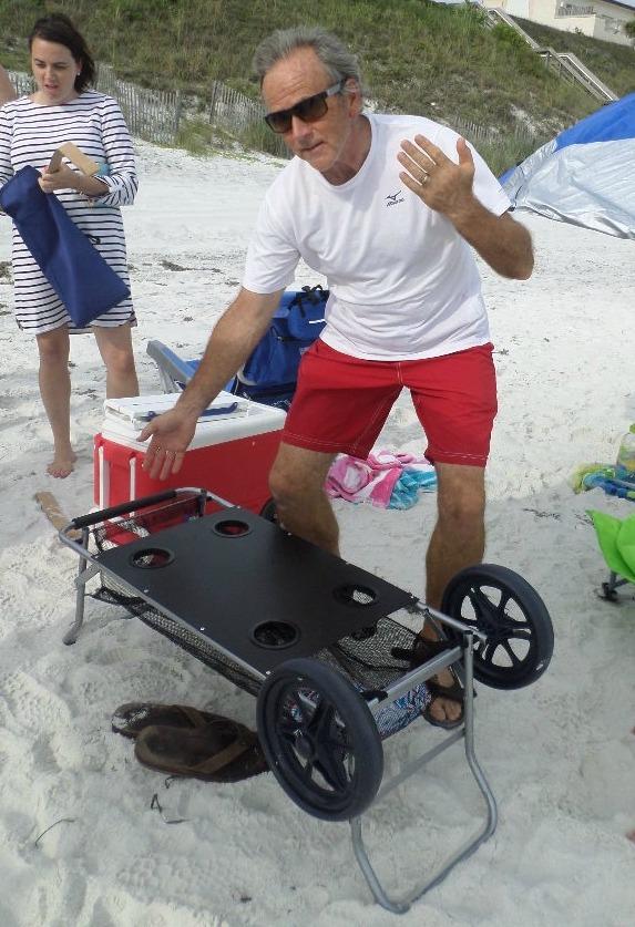 folding beach table