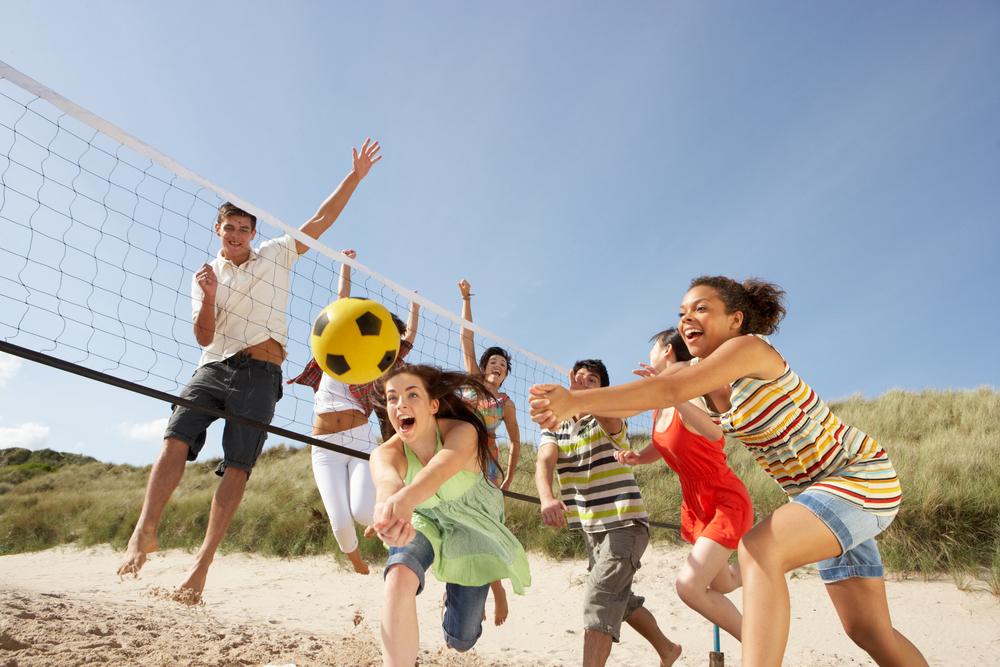 teen beach volleyball