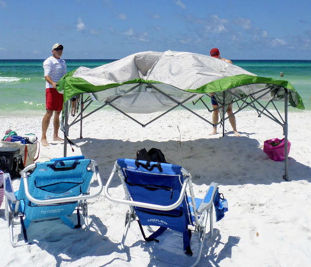 canopy shade tent for beach
