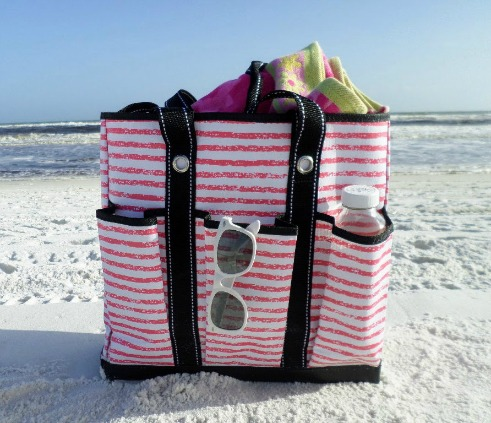 beach tote bag with pockets