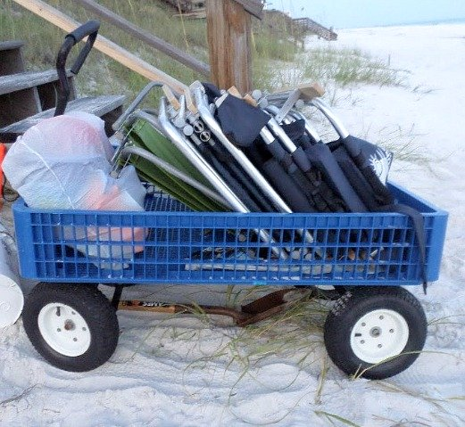 rolling beach cart and wagon