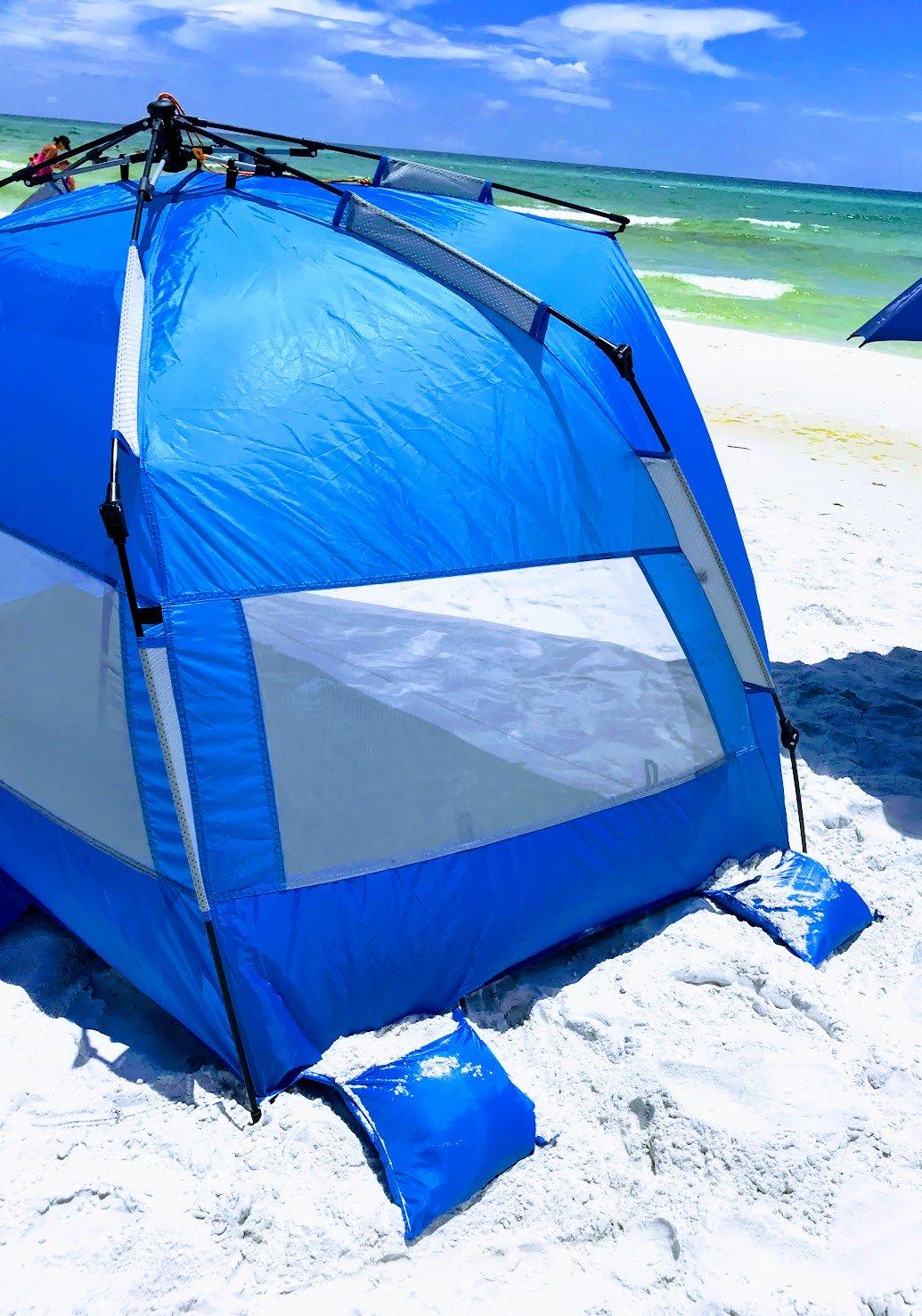 beach pop up tent