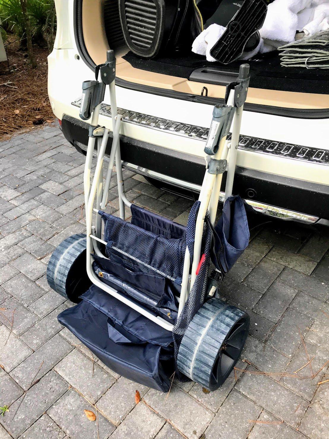 folding beach cart