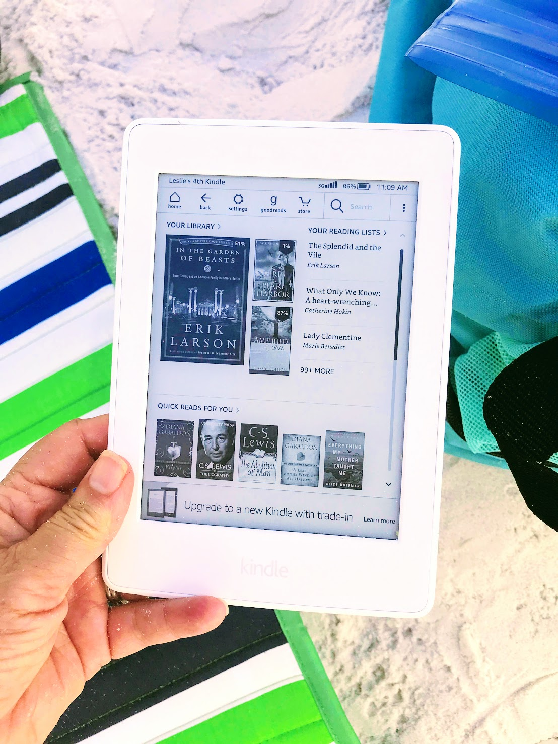 beach chair accessories for reading