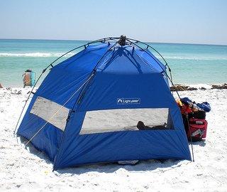how to close a pop up beach tent