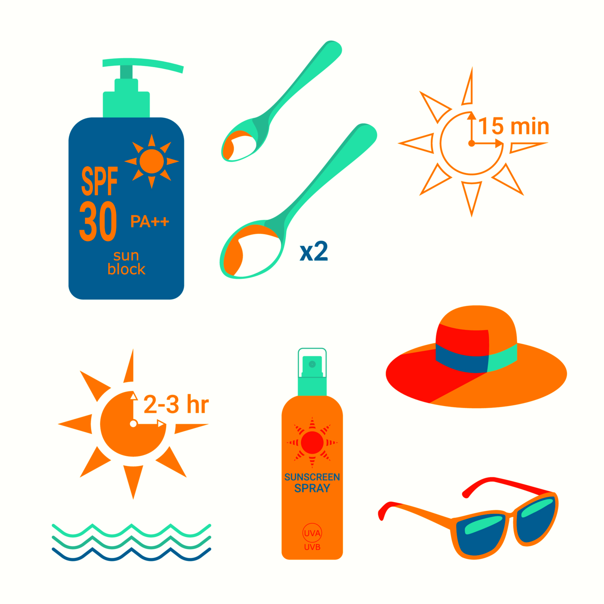how to put on sunscreen