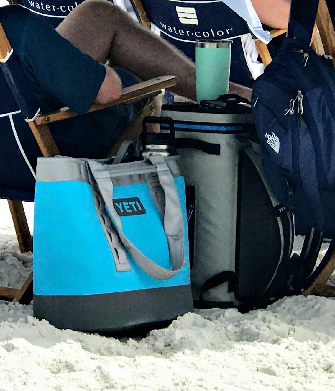 insulated beach tote cooler bag